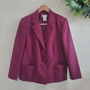 Vintage Liz Baker Purple Blazer Jacket 14 petite